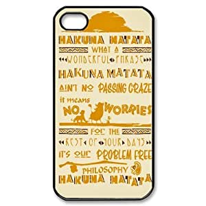 {The Lion King Series} For Ipod Touch 5 Case Cover the Lion King Quotes Hakuna Matata, Luxury Brand Case- Black