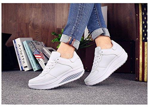 Piste De Terrain Newzcers Chaussures Des Et Weiß La Femmes Des 8q056
