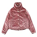 LI SHI XIANG SHOP Winter thicking cotton short coat pink women's jacket (Color : Pink, Size : S)
