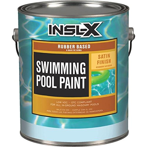 Insl-X Swimming Pool Paint Rubber Based Indoor, Outdoor Satin White 1 Gl 24 Hr