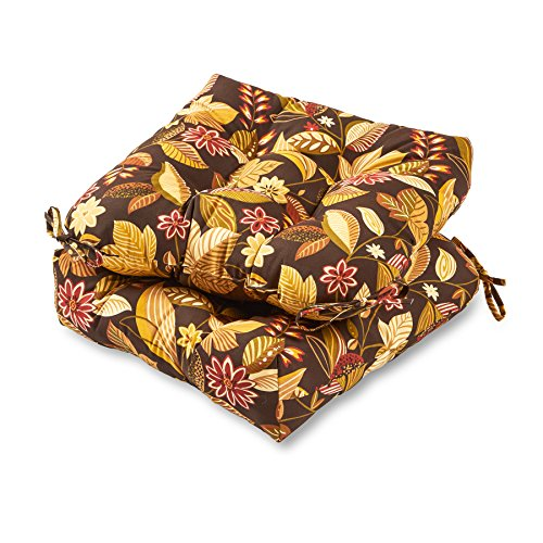 Greendale Home Fashions 20-inch Outdoor Chair Cushion (set of 2), Timberland Floral
