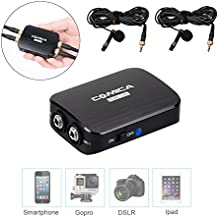 Comica CVM-D03 Mono/Stereo Detachable Muti-functional Dual-head Lavalier Microphone kits for Iphone/ Android Smartphones,Gopro Camera,Canon 5DⅢ Sony A7RⅡ Panosonic GH4 and DSLR Camera(3.5mm Port)