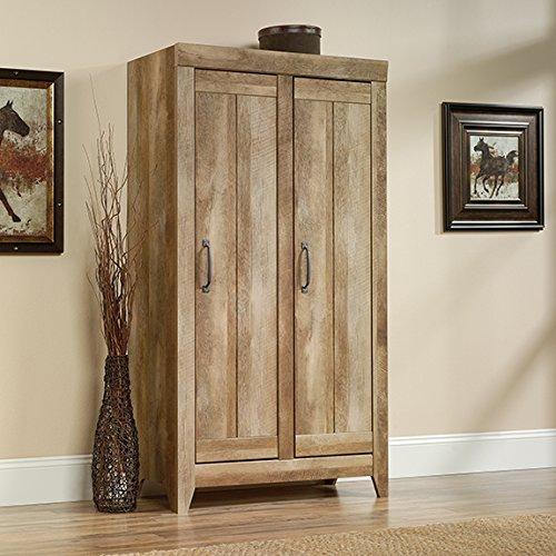 Sauder 418141 Storage Cabinet, Furniture Adept Wide, Craftsman Oak