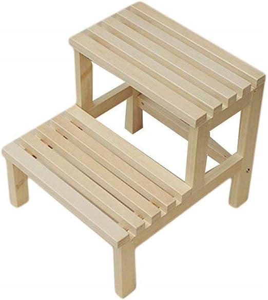 Taburete Escalera Paso de heces, de Madera Maciza Escalera del Taburete multifunción Muebles taburetes taburetes de baño: Amazon.es: Hogar