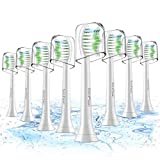 Toothbrush Heads,8 Pack Sonicare Replacement Brush Heads For Philips Sonicare DiamondClean,FlexCare,HealthyWhite, EasyClean, Essence+