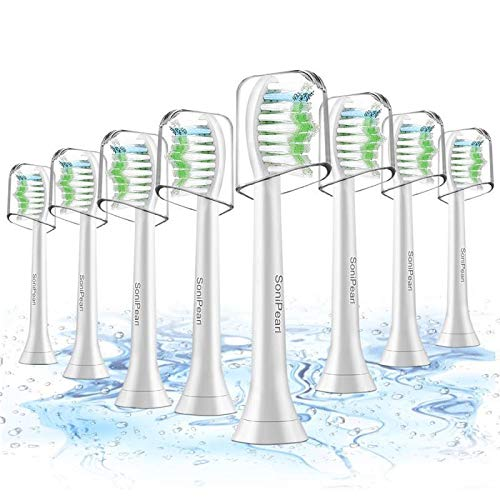 Toothbrush Heads,8 Pack Sonicare Replacement Brush Heads For Philips Sonicare DiamondClean,FlexCare,HealthyWhite, EasyClean, Essence+ by SoniPearl