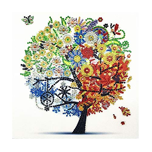 (BeautyShe 5D DIY Diamond Painting Wall Sticker 5D Diamond Mosaic Cross Stitch Embroidery 11.8x11.8inch)