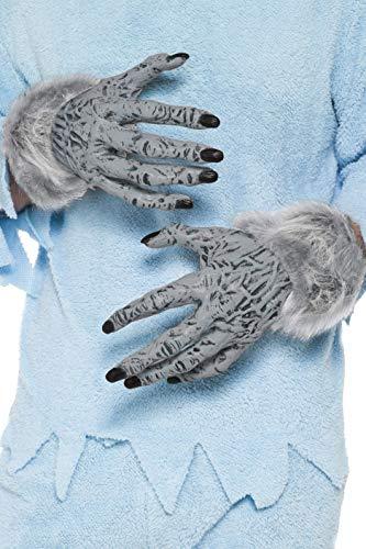 Smiffys Adult Unisex Werewolf Furry Hands, Grey, One Size, 24980