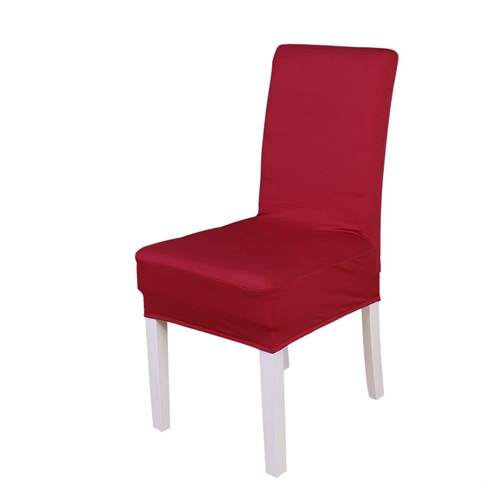 Confezione di 2PC elastico della sedia, colore solido morbido poliestere spandex Lycra rimovibile Protezione sedili sgabello Slipcovers per hotel ristorante festa di nozze casa decorazione della sala da pranzo Wine Red Dream Wedding