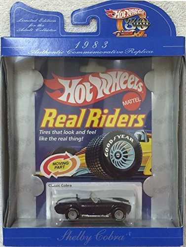 (Hot Wheels 30th Anniversary Commerative Replica 1983 Real Riders Shelby Classic Cobra BLUE Convertible)