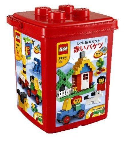 LEGO (LEGO) basic set red bucket (with remove block) 7616   B01KBSLPT0