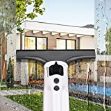 Homitt Window VAC, Electric Window Squeegee Apply to House Car and Bathroom High-Efficiency Cleaning, Window Vacuum Squeegee Save Time Energy and Money (Microfiber Cloth and Funnel)