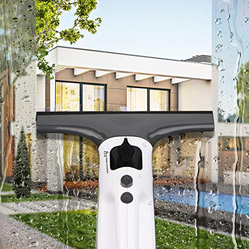Electric vacuum squeegee for streakless windows