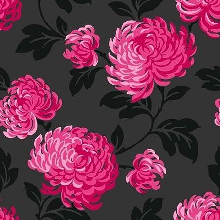 Fine Decor Bloom Wallpaper Black Pink Amazon Diy Tools