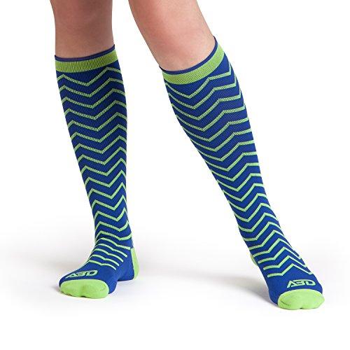 premium-womens-compression-socks-in-a-fun-chevron-print-15-20-mmhg-on-sale-now