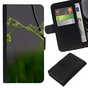 Stuss Case / Funda Carcasa PU de Cuero - Naturaleza Hermosa Forrest Verde 82 - Sony Xperia M2
