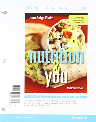 Nutrition & You, Books a la Carte Edition; Modified Mastering Nutrition with MyDietAnalysis with Pearson eText -- St