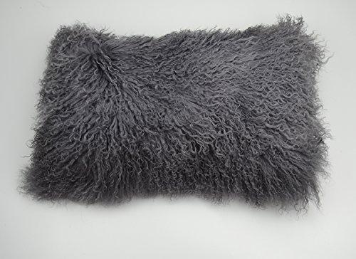 PRChomecollection 100% Real Tibetan Mongolian Lamb Fur Pillow Cover - 12
