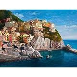 "Manarola-Le Cinque Terre by Adriano Galasso - 9"" x 12"" Giclee Canvas Art Print"