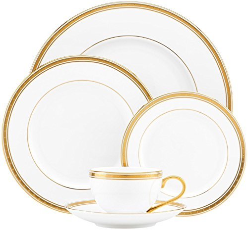 Kate Spade New York Women s Oxford Place 5 Piece Place Setting White Dinnerware