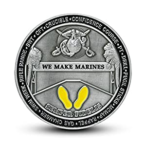 USMC Marine Corps Recruit Depot Parris Island Challenge Coin by MVP Studios