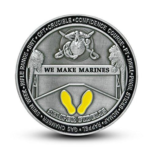 Usmc Marine Corps Recruit Depot Parris Island Challenge Coin