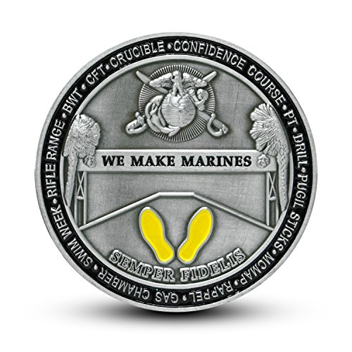 Coin Corps Challenge (USMC Marine Corps Recruit Depot Parris Island Challenge Coin)