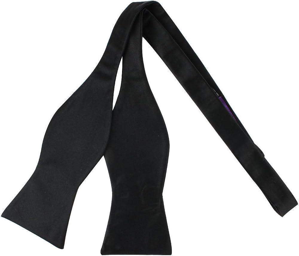 Amazon.com: Negro Satén de seda corbata de lazo | Para ...