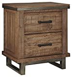 Ashley Furniture Signature Design - Dondie Nightstand - Urban Minimalistic End Table - Solid Pine Wood - Warm Brown