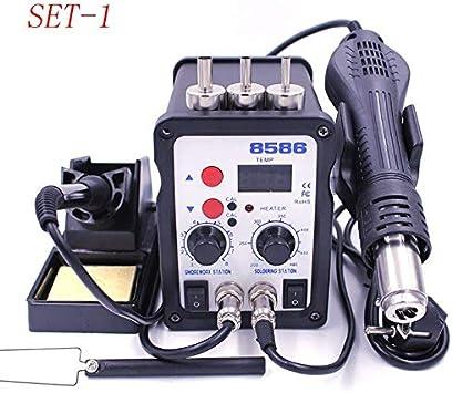 Rework Soldering Station Iron Hot Air Gun Welder Solder 220V 110V 700W Power