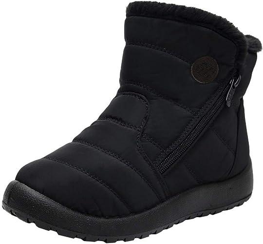 Wtouhe Women's Snow Boots Warm Winter