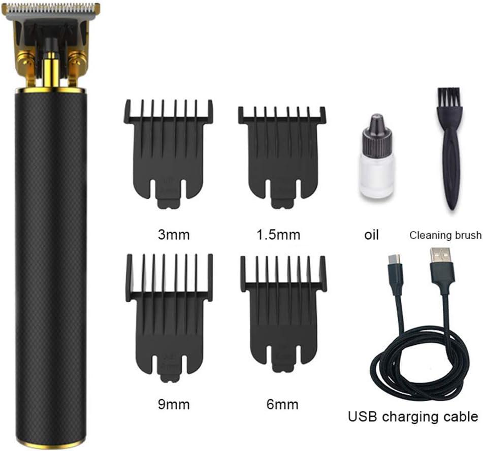 QDWRF Cortapelos Cortapelos Profesionales Cortapelos inalámbrico Cortapelos USB Recargable para Hombres y Uso Familiar