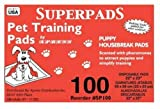 SUPERPADS Original 22 x 23-Inch Pet Training Pads, 100-Pack
