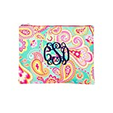 Fashion Print Zippered PouchCan be PERSONALIZED (Blank, Summer Paisley)