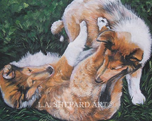 Used, A sable Rough Collie dog art portrait print of an LA for sale  Delivered anywhere in Canada