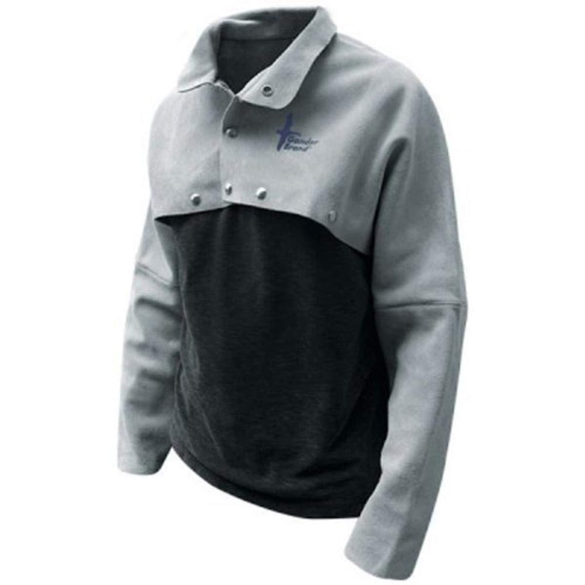 Bob Dale 63-1-71P-XL Premium Pearl Split Leather Cape Sleeve Welders Jacket X-Large Grey