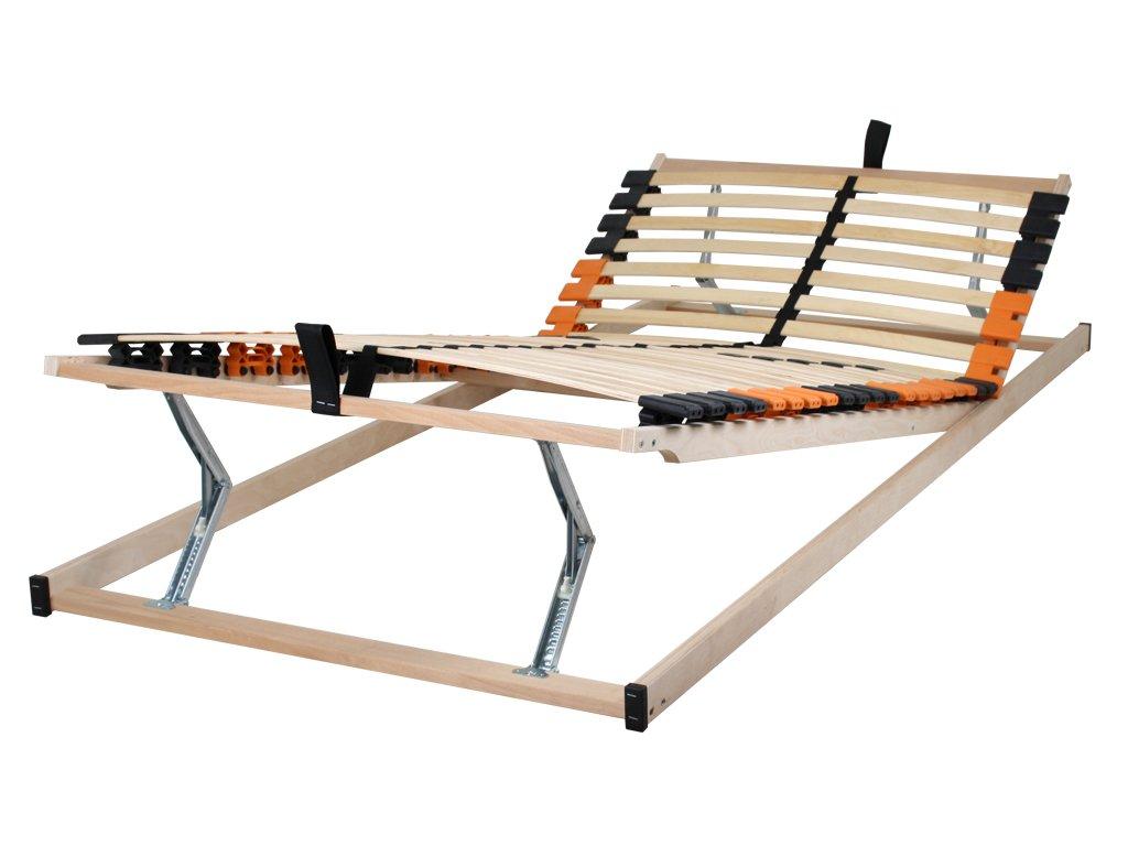 Betten-ABC Madera Medifix K+F, 7-Zonen-Lattenrost, mit Kopf- und FußteilVerstellung, Holm durchgehend - Grösse Zerlegt - Härtegrad 110x200 cm