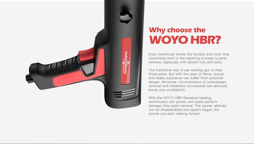 WOYO HBR-220 Induction Innovations Ductor Magnetic Heater Screws Remover Tool
