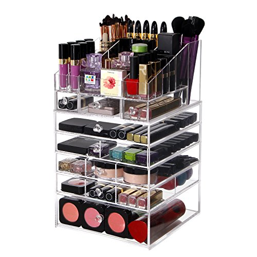 Lifewit Large 6 Tier Drawers Acrylic Makeup Organizer Wit.