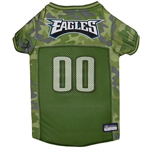 - NFL Philadelphia Eagles Camouflage Dog Jersey, Large. - CAMO PET Jersey Available in 5 Sizes & 32 NFL Teams. Hunting Dog Shirt