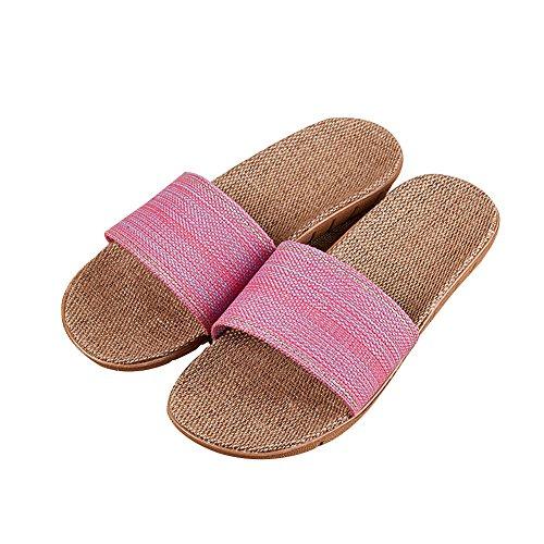 TELLW Badezimmer Hausschuhe für Männer und Frauen Indoor Home Points Pediküre Schuhe Paare Non-Slip Badezimmer Kühlen Sommer Hausschuhe Pink