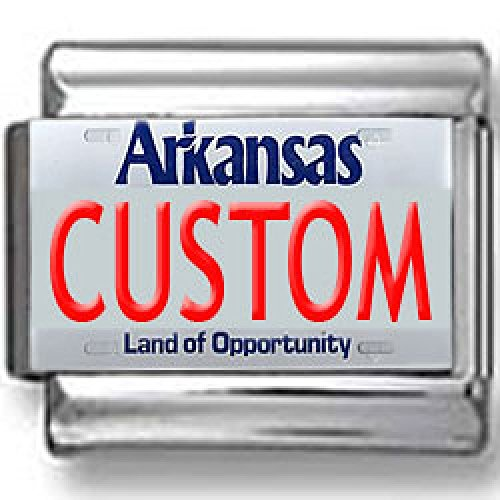 - Arkansas License Plate Custom Italian Charm