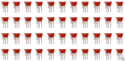 Dripping Blood Halloween Water Slide Nail Art Decals - Salon -