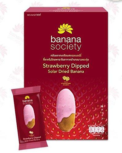 Banana Society Strawberry Dipped Solar Dried Banana 250 g. Thailand product