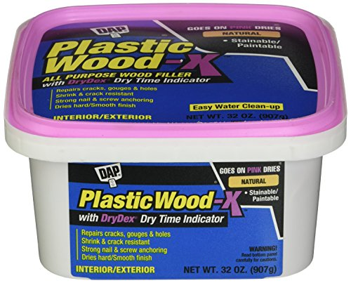 DAP 543 Series 00543 Qt Natural Plastic Wood-X w/Drydex, 32 Oz,