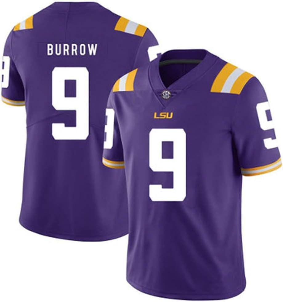 HQIUYI Camiseta De Rugby LSU Tigers 9 Burrow College Edition 2019, Camiseta Bordada Fan Edition S-XXXL: Amazon.es: Deportes y aire libre