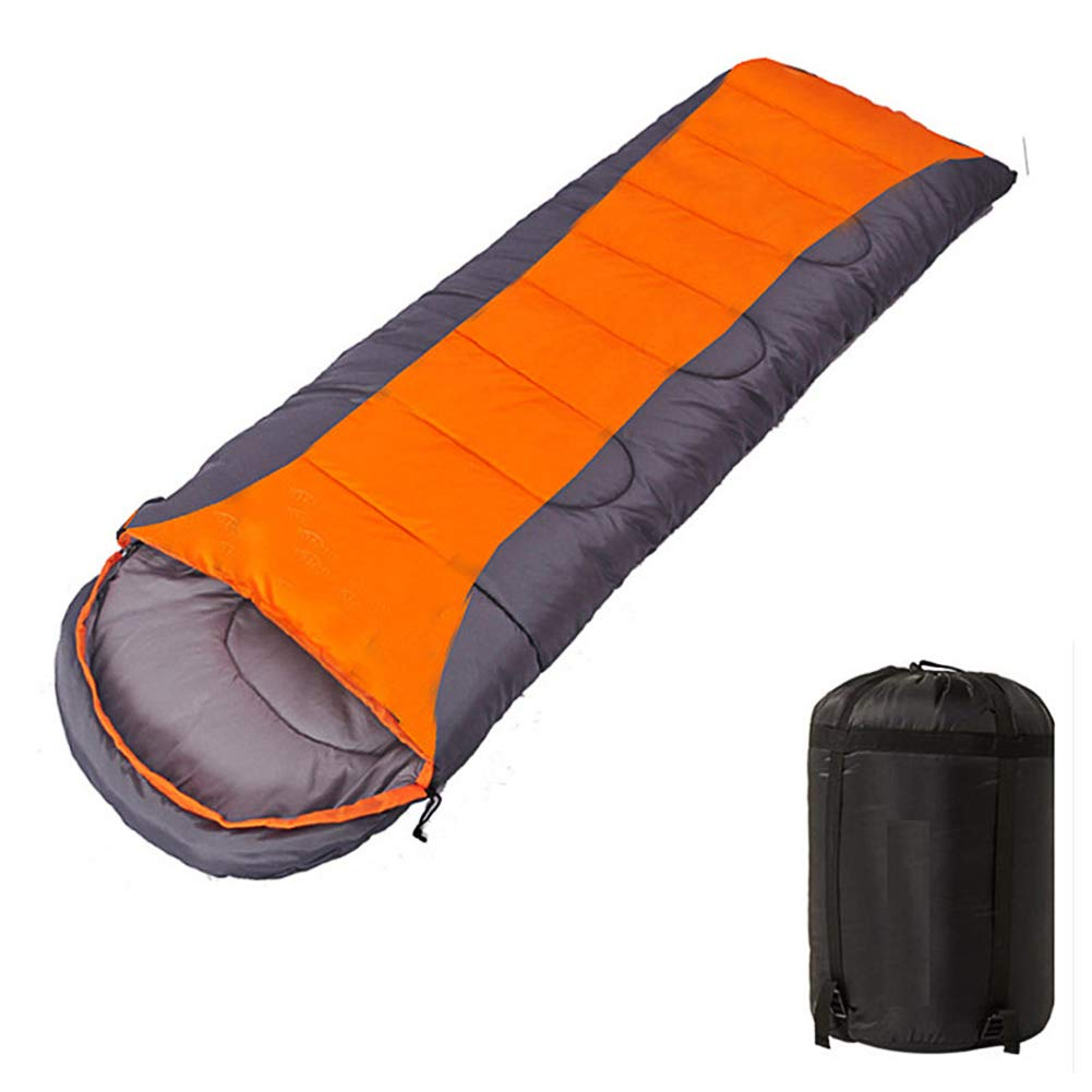 Meiyiu Thicken Outdoor Sleeping Bag, Camping Self-Driving Warm Keeping Sleeping Bags Orange Gray 1300 Grams by Meiyiu