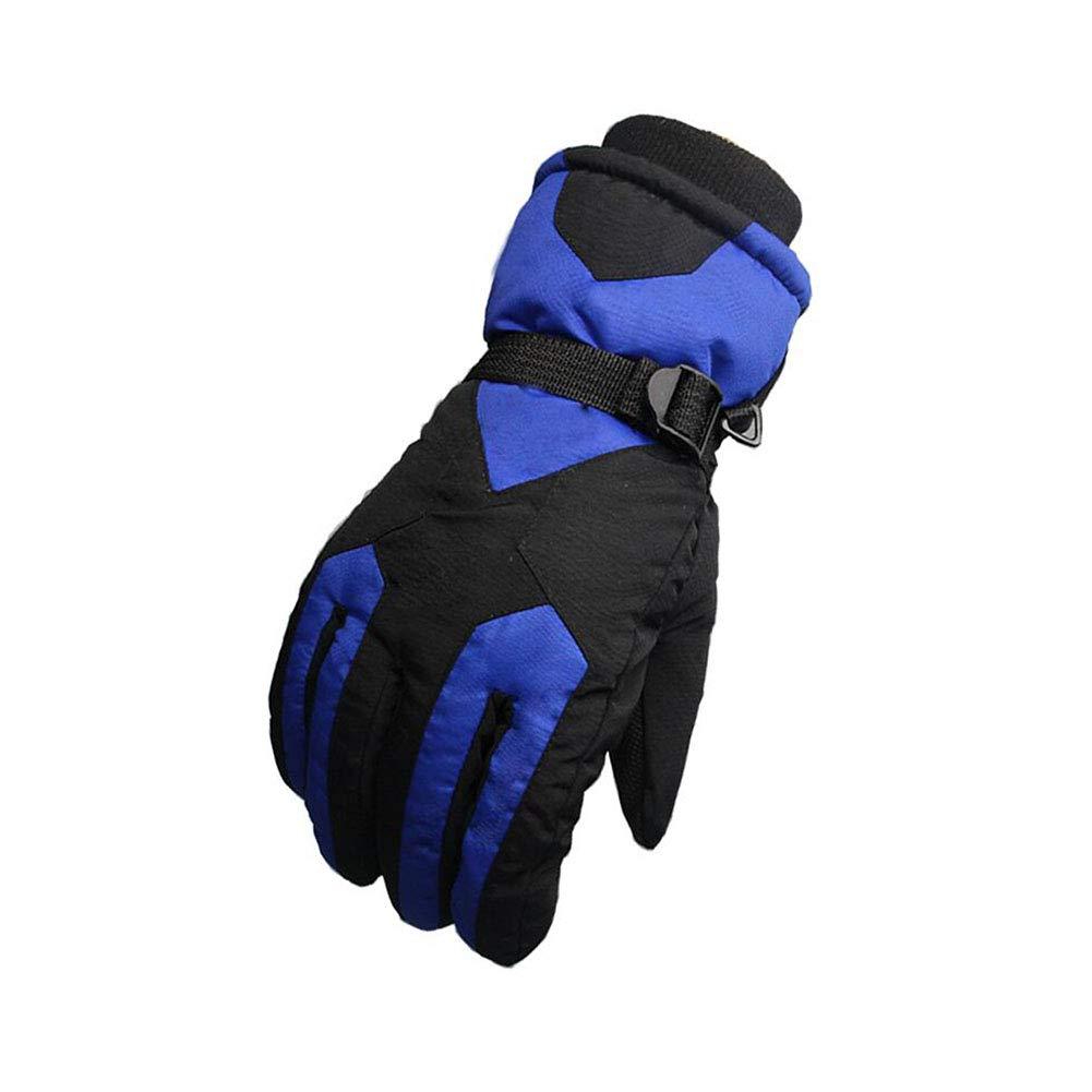 Dall Gloves Gloves Winter Warm Ski Glove Windproof Non-Slip Men Adjustable Size (Color : 002)