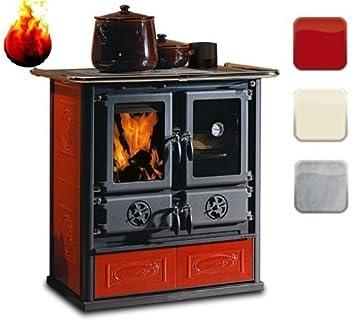 Stufa di cucina La Nordica Stufa a legna Rosetta 6 kW: Amazon.it ...