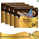 SNICKERS Medley Assorted Chocolates Gift Pack (Snickers, Bounty & Galaxy)- 550.4g, Pack of 4
